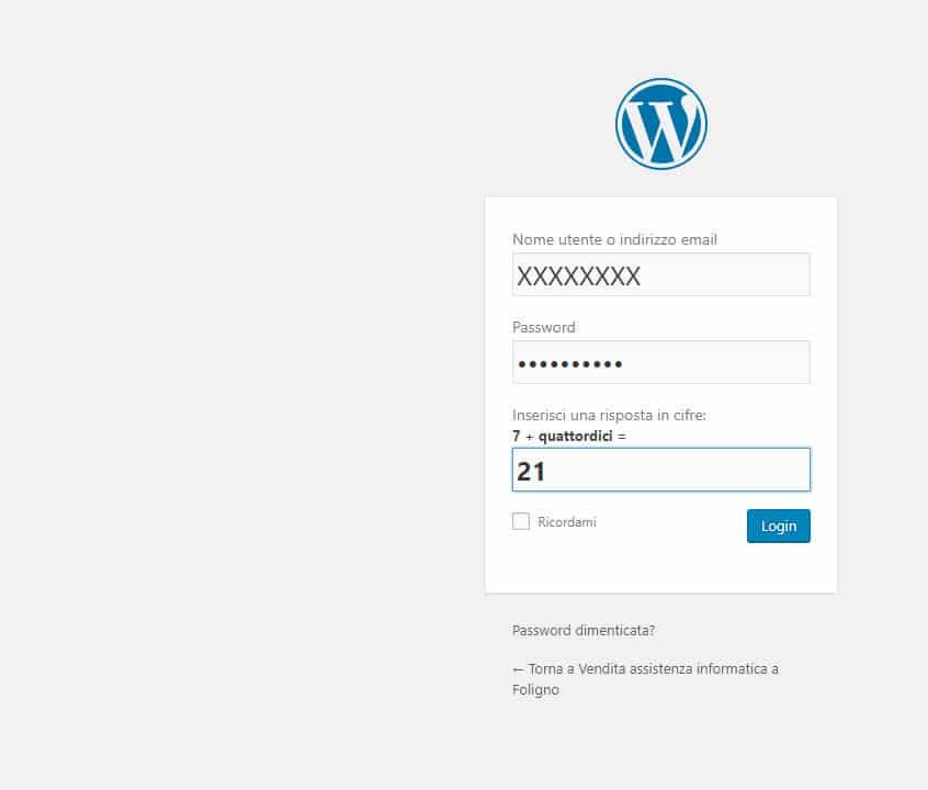 Come accedere al pannello amministrativo di WordPress